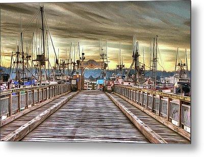 Port Of Newport - Dock 5 Metal Print