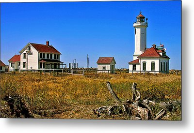Metal Print featuring the painting Port Townsend by Larry Darnell
