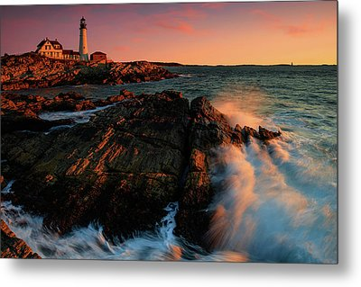 Metal Print featuring the photograph Portland Head First Light  by Emmanuel Panagiotakis