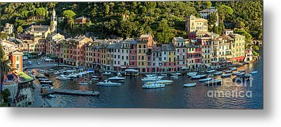 Metal Print featuring the photograph Portofino Morning Panoramic II by Brian Jannsen