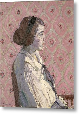Portrait In Profile Metal Print by Harold Gilman