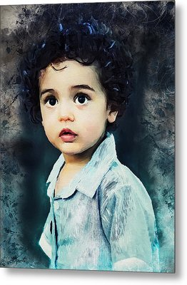 Portrait Of A Child Metal Print