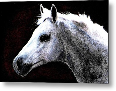 Portrait Of A Pale Horse Metal Print by Angela Davies