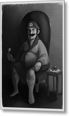 Metal Print featuring the digital art Portrait Of A Plumber by Michael Myers