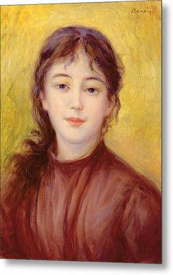 Portrait Of A Woman Metal Print by Pierre Auguste Renoir