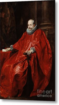 Portrait Of Agostino Pallavicini By Anthony Van Dyck Metal Print by Esoterica Art Agency