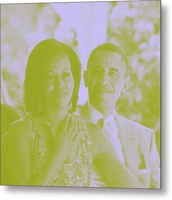 Portrait Of Barack And Michelle Obama Metal Print