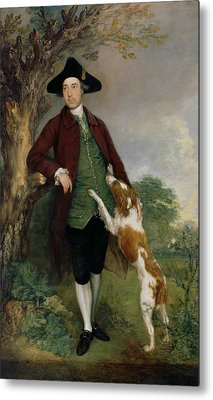Portrait Of George Venables Vernon Metal Print by Thomas Gainsborough