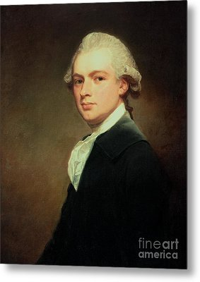 Portrait Of Henry Russell Metal Print by George Romney