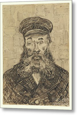 Portrait Of Joseph Roulin By Vincent Van Gogh Metal Print by Esoterica Art Agency