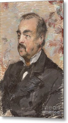 Portrait Of Julien De La Rochenoire By Edouard Manet Metal Print by Esoterica Art Agency