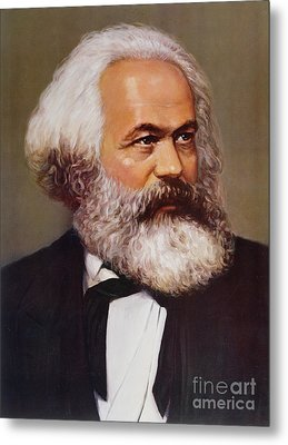 Portrait Of Karl Marx Metal Print
