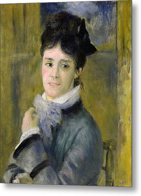 Portrait Of Madame Claude Monet Metal Print by Renoir