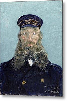 Portrait Of Postman Roulin Metal Print by Vincent van Gogh