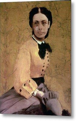 Portrait Of Princess Pauline De Metternich Metal Print by Edgar Degas