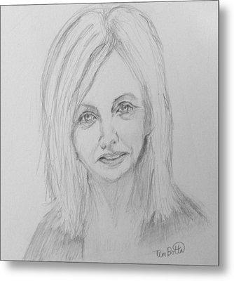 Portrait Of Rhonda Byrne Metal Print