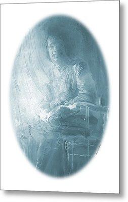 portrait of Sathya Sai Baba Metal Print
