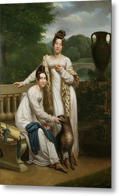 Portrait Of The Misses De Balleroy Metal Print by Franois Riesener