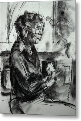 Portrait Sketch Of Euphemia Mcnaught Metal Print by Tim  Heimdal