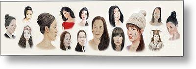Portraits Of Lovely Asian Women II Metal Print