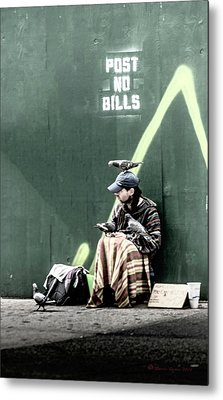 Post No Bills Metal Print