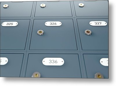 Post Office Boxes Metal Print by Allan Swart