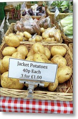 Potatoes At The Market  Metal Print by Tom Gowanlock
