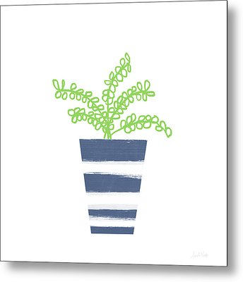 Potted Plant 1- Art By Linda Woods Metal Print by Linda Woods