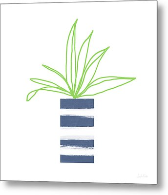 Potted Plant 2- Art By Linda Woods Metal Print by Linda Woods