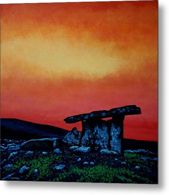Poulnabrone Dolmen Ireland Metal Print