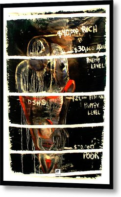 Metal Print featuring the painting Poverty Line by Carol Rashawnna Williams