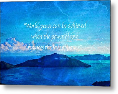 Metal Print featuring the painting Power Of Love by Joan Reese