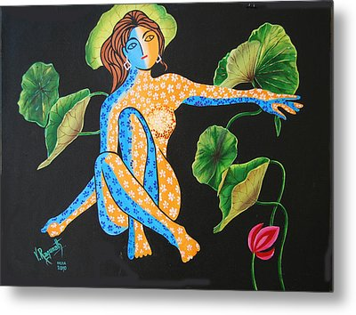 Metal Print featuring the painting Power Of Nature by Ragunath Venkatraman