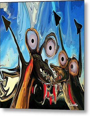 Power Struggle Metal Print by Andrea N Hernandez