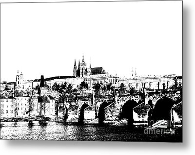 Prague Castle And Charles Bridge Metal Print by Michal Boubin
