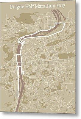 Prague Half Marathon #1 Metal Print