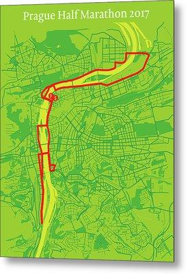 Prague Half Marathon #2 Metal Print