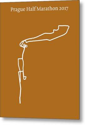 Prague Half Marathon Line Metal Print