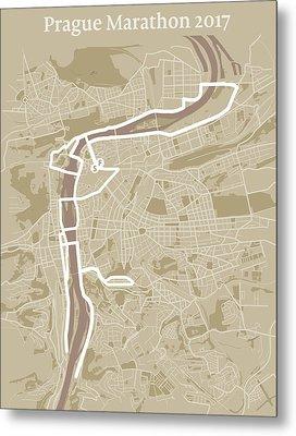 Prague Marathon #1 Metal Print