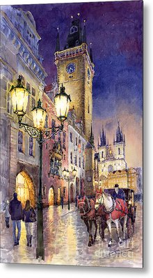 Prague Old Town Square 3 Metal Print by Yuriy  Shevchuk