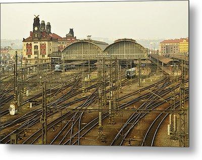 Prague Railroad Station Metal Print by Marek Stepan