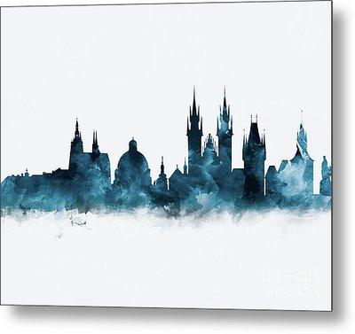 Prague Skyline Metal Print