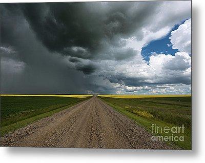 Prairie Summer Road Metal Print