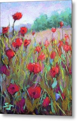 Praising Poppies Metal Print by Susan Jenkins