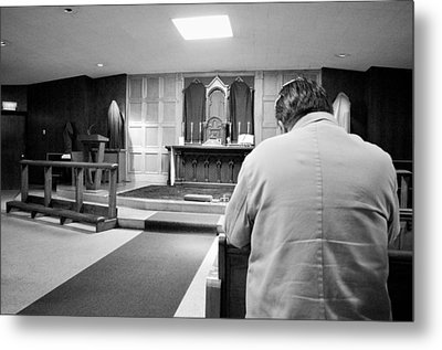 Prayer Before Mass Metal Print by Jeanette O'Toole