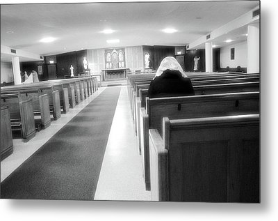 Praying In Peace Metal Print by Jeanette O'Toole