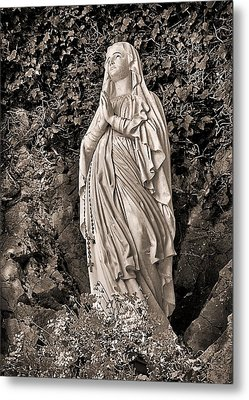 Metal Print featuring the photograph Praying Nun by Elf Evans