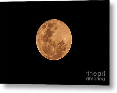 Post-penumbral Moon Metal Print by Venura Herath