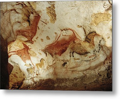 Prehistoric Artists Painted Robust Metal Print by Sisse Brimberg