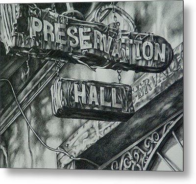 Preservation Hall Metal Print by Michael Lee Summers